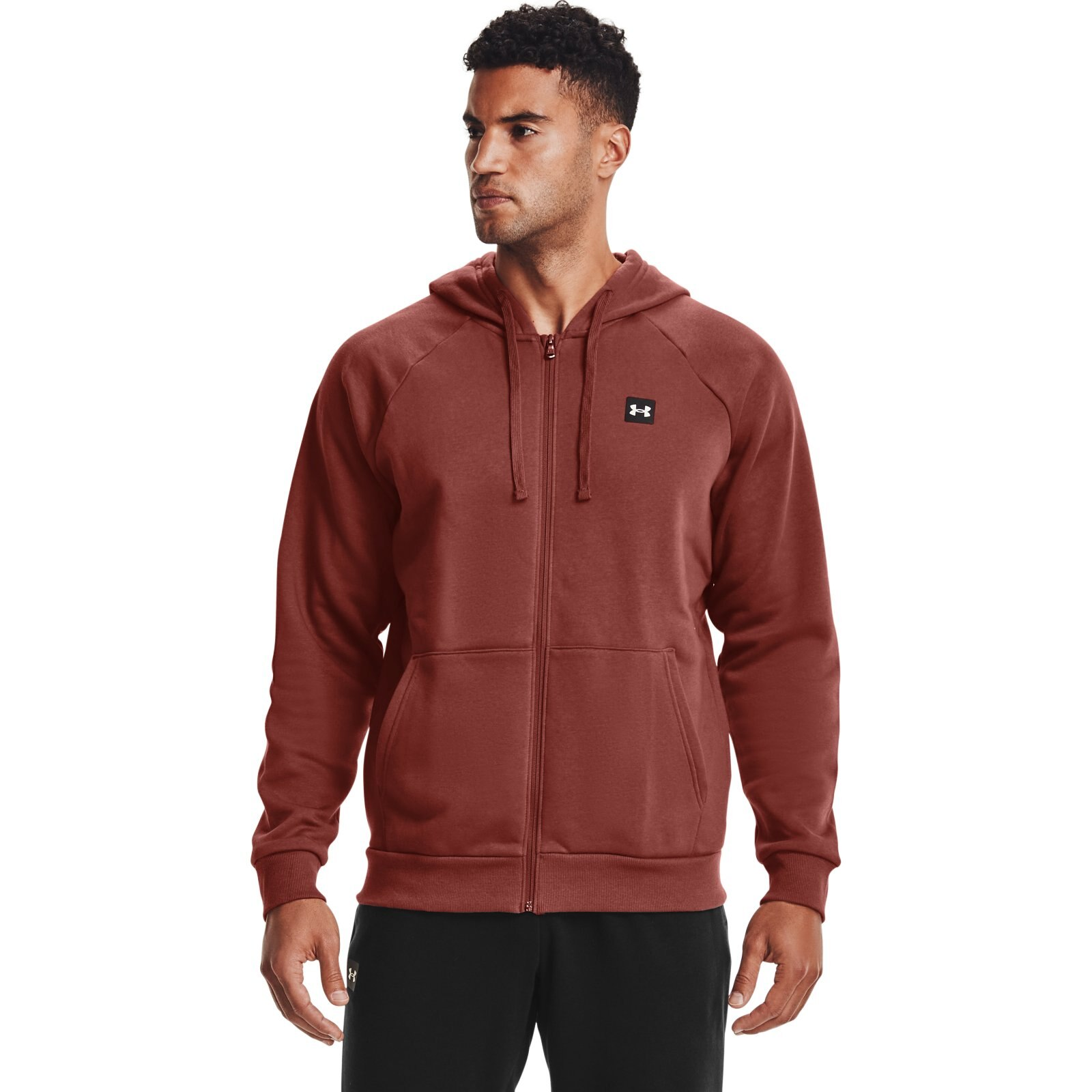 Толстовка Rival Fleece Full Zip Hoodie Under Armour Красный