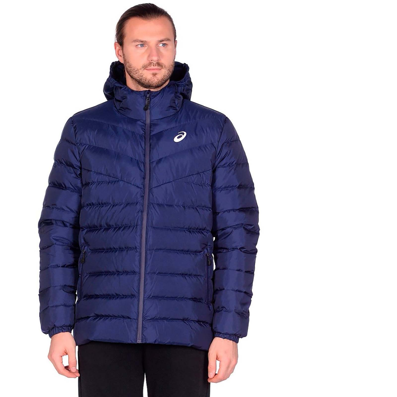 Пуховик DOWN HOODED JACKET Asics Синий