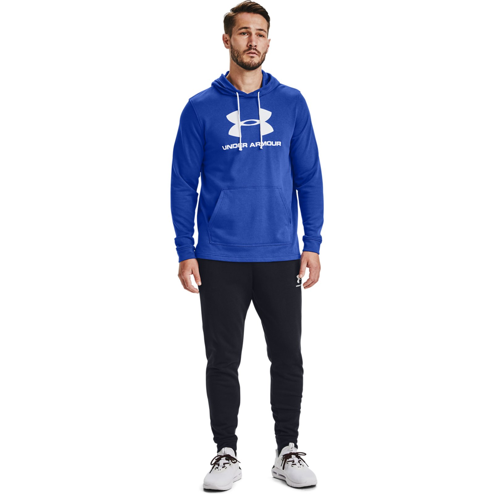 Толстовка Sportstyle Terry Logo Hoodie Under Armour Синий фото 5