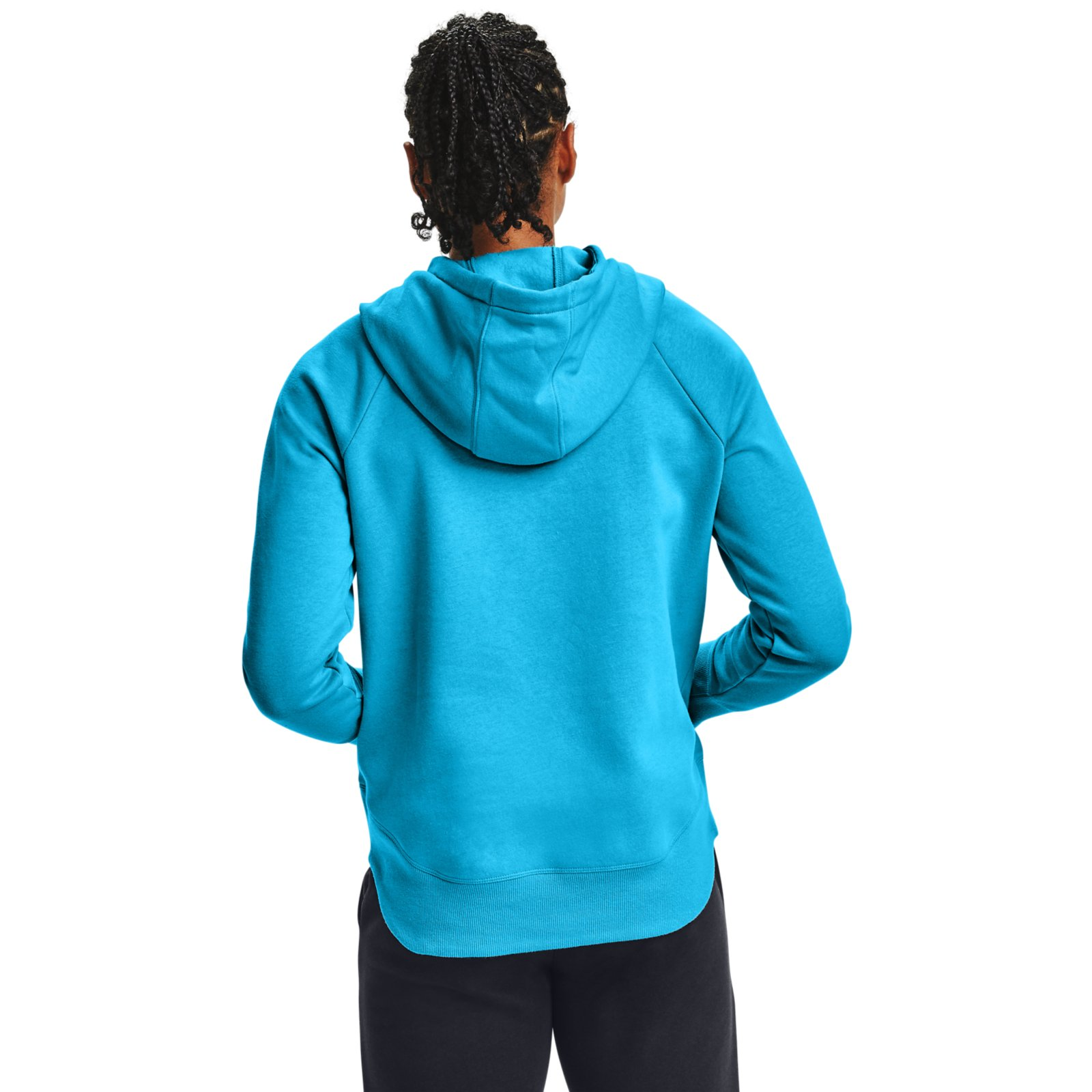 Худи Rival Fleece Metallic Hoodie Under Armour Синий фото 3