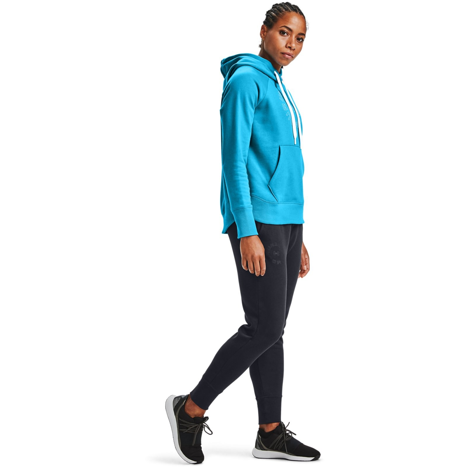 Худи Rival Fleece Metallic Hoodie Under Armour Синий фото 4