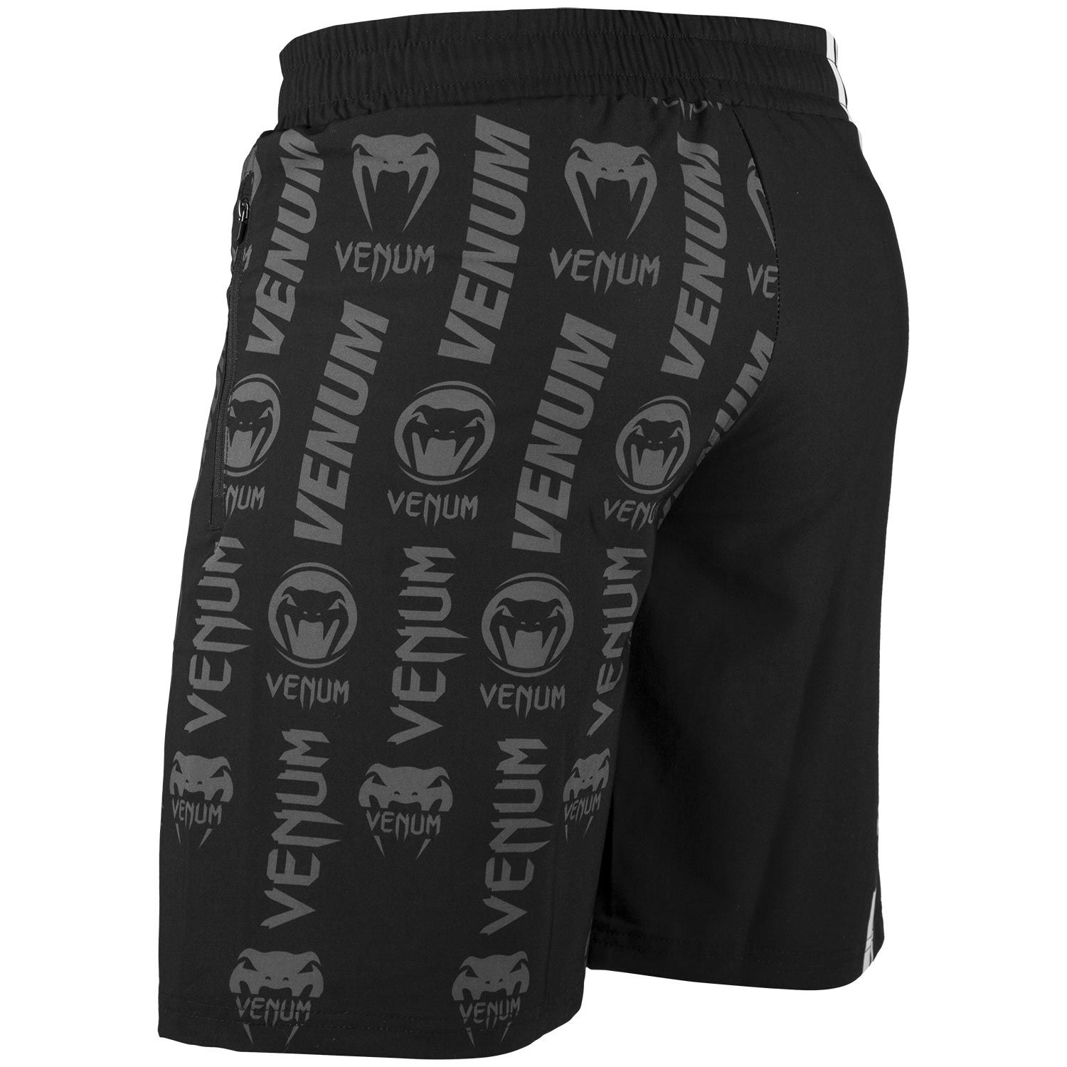 Шорты Venum Logos Training Shorts Black/White фото 3