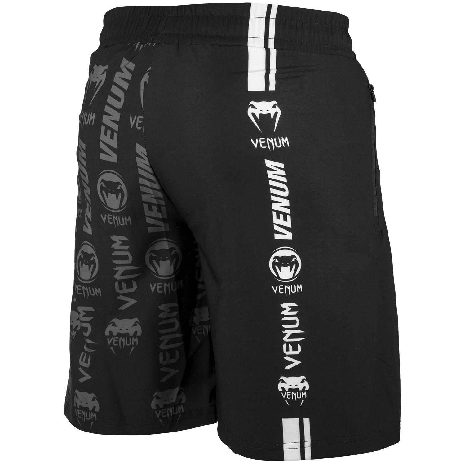 Шорты Venum Logos Training Shorts Black/White фото 4
