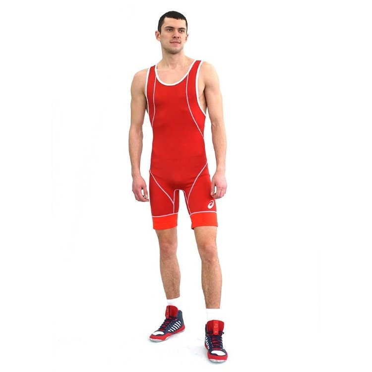Трико борцовское ASICS 157517 Wrestling Singlet Red &