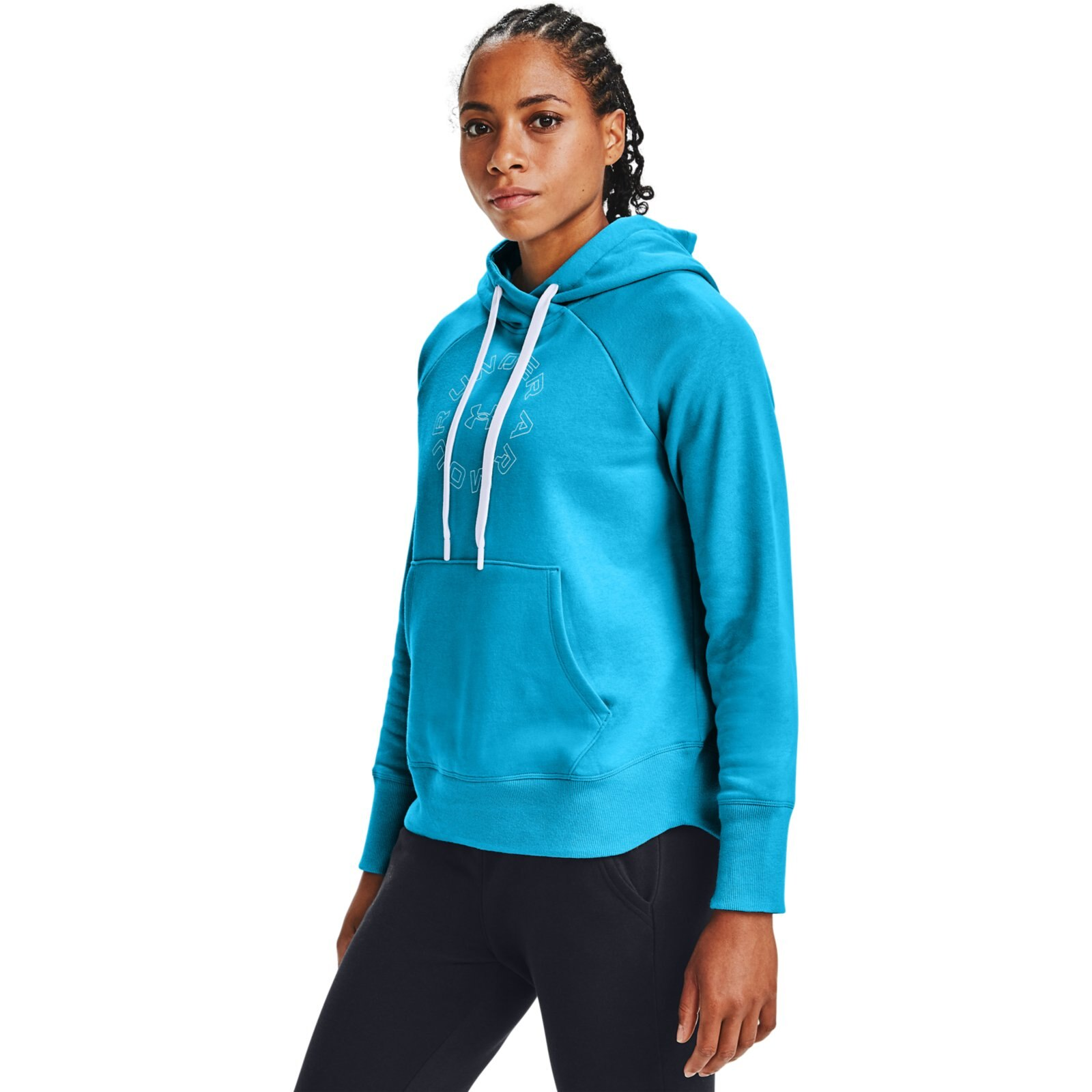 Худи Rival Fleece Metallic Hoodie Under Armour Синий