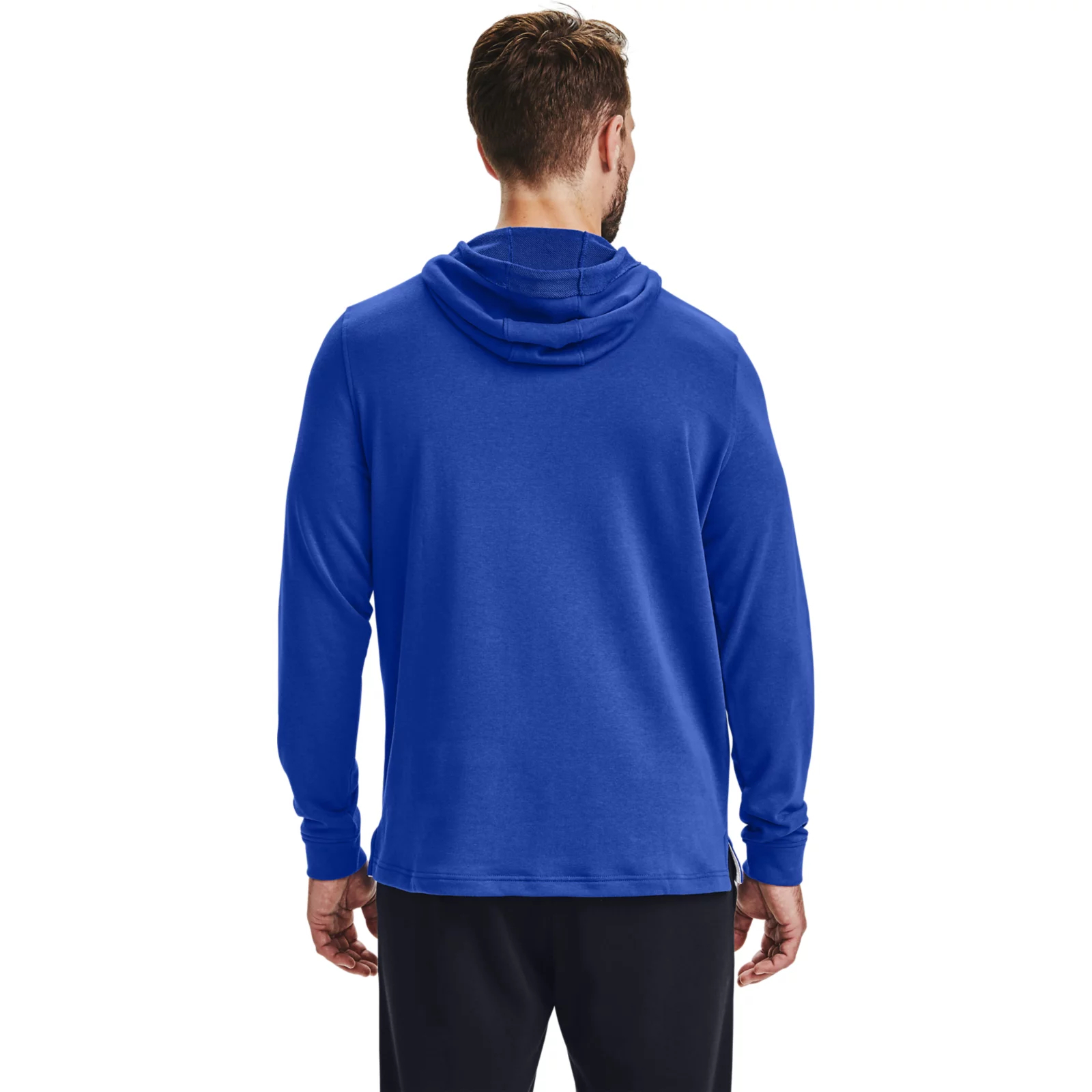 Толстовка Sportstyle Terry Logo Hoodie Under Armour Синий фото 2