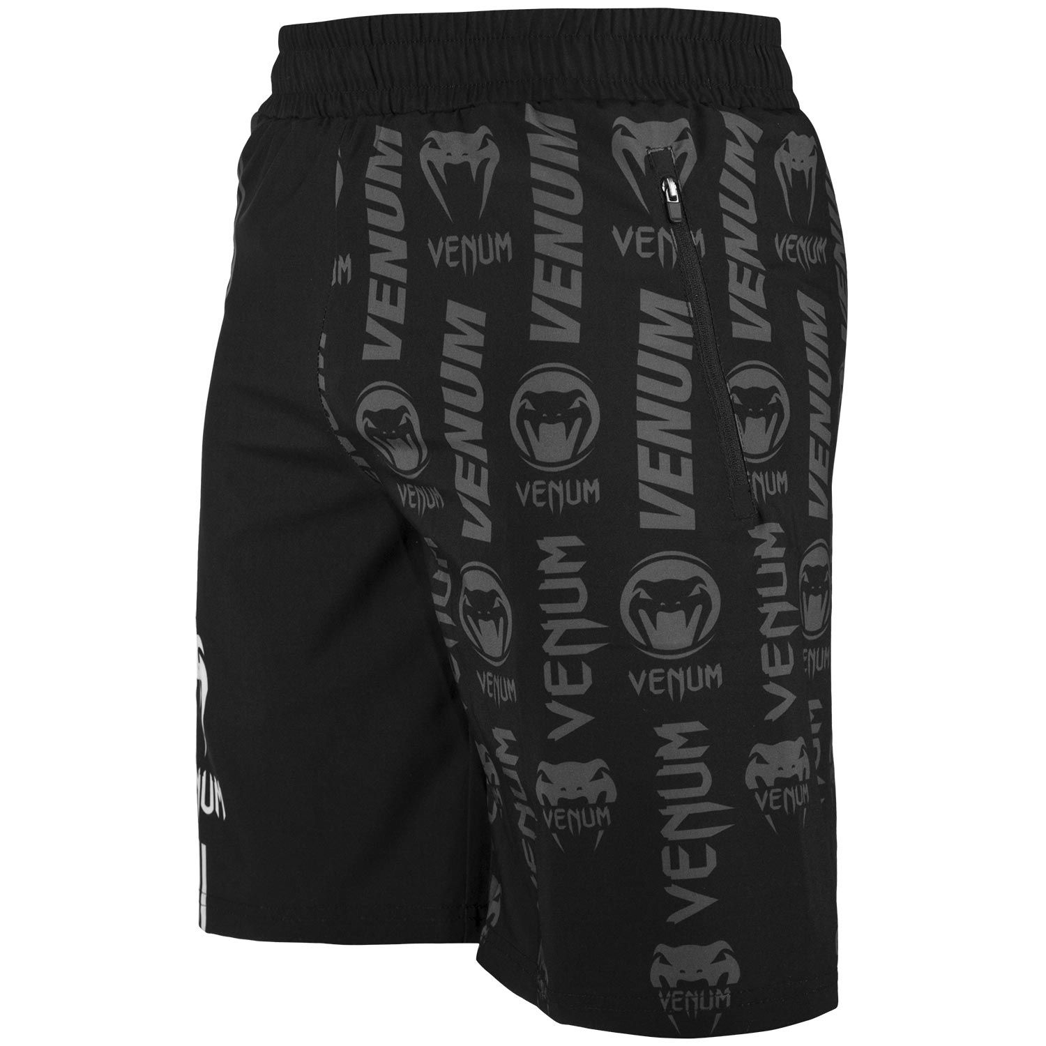 Шорты Venum Logos Training Shorts Black/White фото 2