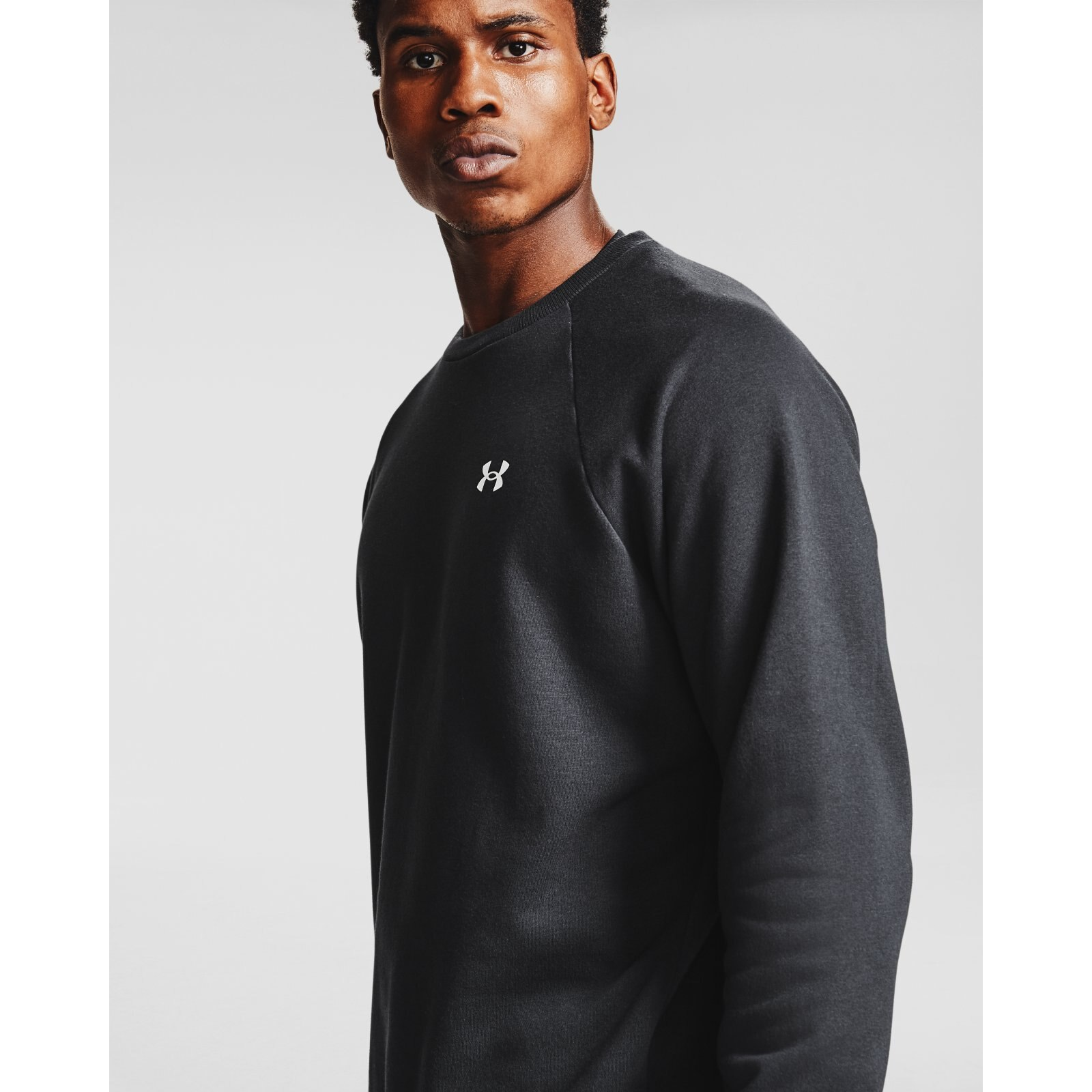 Свитшот Rival Cotton Crew Under Armour Черный фото 4